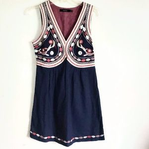 Ark & Co Women's Dress BOHO Embroidered Cotton Med